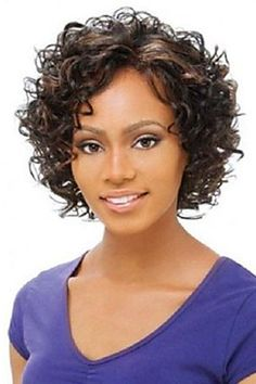 Charming Short Mixed Color Elegant Curly Synthetic Wig For WomenSynthetic Wigs | RoseGal.com