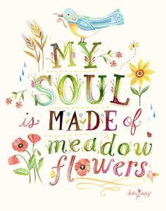 Soul Made of Meadow Flowers vertical print by thewheatfield, $18.00