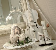 Beautiful white vignette