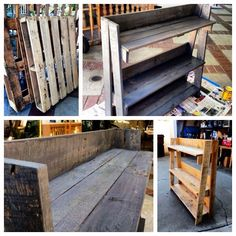 DIY pallet shelf. Planning on using for plant stand.