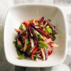 Raw Beet Slaw with Fennel, Tart Apple, and Parsley