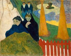 """Arlesiennes. Mistral  Paul Gauguin -  """"Studio of the Sun"""" exhibit - Chicago Institute of Arts - 2002"""
