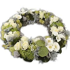 Circle of Life Funeral Flowers, Circle Of Life, Floral Wreath, Wreaths, House, Home Decor, Floral Crown, Decoration Home, Door Wreaths