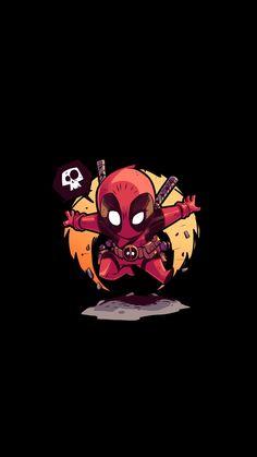New Deadpool Moon Black Wallpaper Deadpool Chibi, Deadpool Art, Chibi Marvel, Marvel Heroes, Deadpool Wallpaper, Marvel Wallpaper, Cartoon Wallpaper, Black Phone Wallpaper, Cellphone Wallpaper