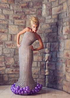 Balloon Dress Model - Jennifer Fulfer, Hair/MU - Dori Randall, Photographer - Brad Olson
