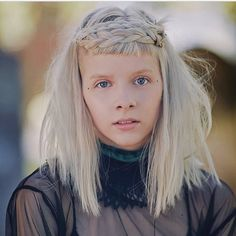 Aurora Aksnes, Stavanger, Extended Play, Aurora Artist, Aurora Hair, Aurora Fashion, Shaved Hair Cuts, Grunge Hair, Messy Hairstyles