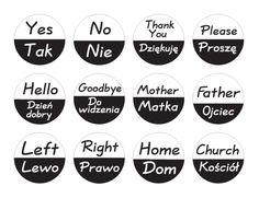 General Polish Vocab: Tak/Nie, Do widzenia, Lewo/Prawo, Dom. Polish Symbols, Learn Polish, Polish Tattoos, Polish Words, Polish Language, Symbols And Meanings, Thinking Day, Educational Websites, Polish Recipes