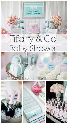 f816fc6d9801 Such a stunning Tiffany   Co. See more party ideas at… Baby Shower ...