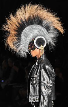 "Philip Treacy--I am going to call this ""the Eagle Flies"" or ""Mohawk!"