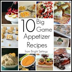 10 Big Game Appetizer Recipes that will have your guest talking about more than just the game. #appetizerrecipes #biggameparty