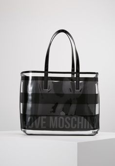 Love Moschino TRANSPARENT LOGO BEACH BAG - Håndveske - nero - Zalando.no