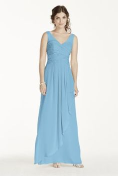 our wedding party is sure to be breathtaking in this elegant illusion tank crinkle chiffon dress!