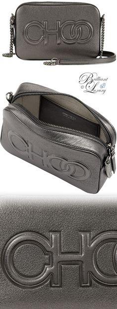 578271559258 Brilliant Luxury ♢ Jimmy Choo Balti Anthracite Metallic Nappa Embossed Choo  Logo Mini Bag  brilliantluxury