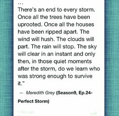 The sky will clear in an instant and only then, in those quiet moments after the storm, do we learn who was strong enough to survive it