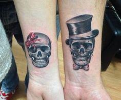 Tatuagens com caveiras e esqueletos