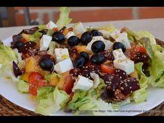 Ensalada multicolor de Remolacha y Melocotón1 Fruit Salad, Cobb Salad, Menu, Food, Youtube, Strawberry Vinaigrette, Pork Loin, Fruits And Vegetables, Appetizers