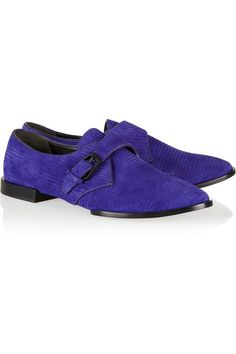 Alexander Wang Ruby ribbed suede monk-strap brogues