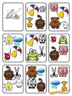 Hledání stejných obrázků pro malé děti Bingo, Montessori Activities, Activities For Kids, Storytelling Books, Educational Games, Kids Corner, Matching Games, English Lessons, Math Games