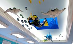 Underwater dental office theming by Imagination Dental Solutions