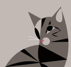 (via Cat Portrait «Pushmepullyou Design Blog). S)