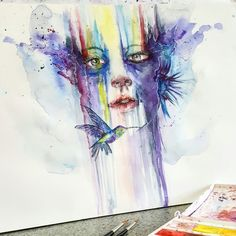 Sweetness of life - watercolor painting by Timothy Jozef