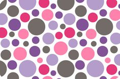 Bubble Dot Cuddle Lilac/Hot Pink