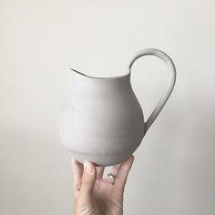 'Pitcher' perfect... new form in the works. . . #pottery #clay #ceramics #design #art #stoneware