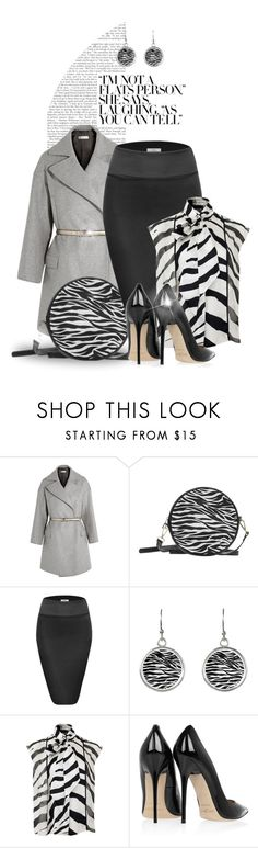 """Elegant Zebra-Striped Work Attire"" by colormegirly ❤ liked on Polyvore featuring Golden Goose, Lanvin, Jimmy Choo, handbags, fashionset and polyvoreset"