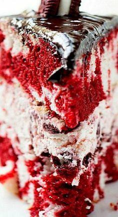 Red Velvet Marble Oreo Cake