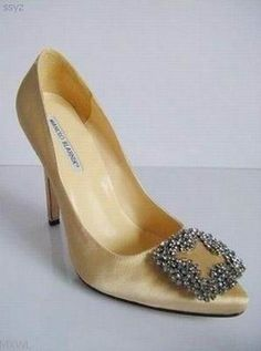 gold manolo blaniks would be nice as well under a wedding gown