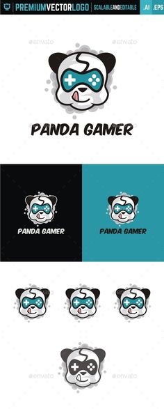 Panda Gamer — AI Illustrator #app #gamer • Available here → https://graphicriver.net/item/panda-gamer/15088011?ref=pxcr