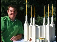 Washington DC Temple out of Lego Building Blocks