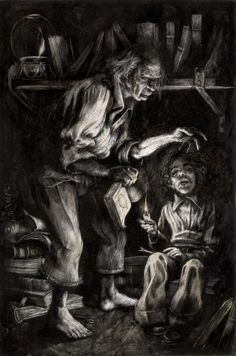 dunwich horror santiago caruso - Google Search  At home he would pore diligently over the queer pictures and charts in his grandfather's books, while Old Whateley would instruct and catechise him through long, hushed afternoons.