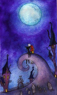 99 Super Creative Nightmare Before Christmas Party Ideas - Creative Maxx Ideas Christmas Artwork, Christmas Drawing, Christmas Paintings, Tim Burton Art, Tim Burton Films, Ghibli, Nightmare Before Christmas Movie, Jack The Pumpkin King, Artwork Images