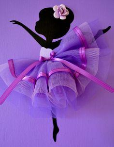 Set of three dancing por FlorasShop Ballerina Nursery, Jungle Decorations, Ballerina Silhouette, Rag Quilt Patterns, Dollhouse Miniature Tutorials, Egg Carton Crafts, Sad Wallpaper, Adult Crafts, Purple Backgrounds