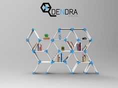Dendra is a hexagonal-based shelving system that uses any 18mm laminates to create beautiful arrangements for your home or studio near a wall or creating a beautiful division. Customize your Dendra shelves by printing the nodes in colors matching your space palette and buying some nice plastic-finished or wood-finished lamminates! You will need to plan your array before printing, since there are 10 diferent node pieces to chose from, and you will need to print the front and back node piece…