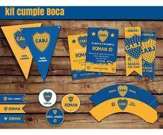 Kit Cumple Imprimible Boca Juniors + Candy Bar - $ 398,00 en Mercado Libre Bar, Candy, Vestidos, Gender Reveal Decorations, Birthday Invitations, Sweets, Candy Bars, Chocolates