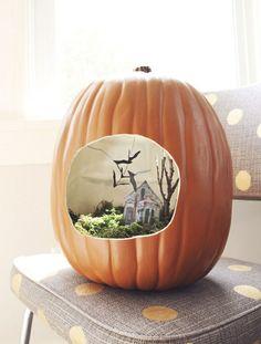 halloween kürbis kreative bastelideen halloween dekoration