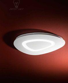 dettagli su lampada da soffitto plafoniera design moderno bianca led camera bagno cucina
