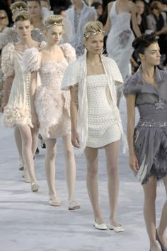 #Chanel Spring 2008 Couture#Models: Mariacarla Boscono, Natasha Poly, Diana Farkhullina and Kori Richardson