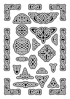 Collection of various celtic knots, celtic frame, vector illustration – Norse Mythology-Vikings-Tattoo Celtic Knot Tattoo, Celtic Tattoos, Viking Tattoos, Celtic Knots, Tattoo Symbols, Wiccan Tattoos, Indian Tattoos, Symbol Tattoos, Art Viking