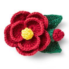 立体的に編むのが楽しい約8時間刺しゅう糸ならではの繊細な色遣いと、リアルで可憐なお花の表情にうっとり。|刺しゅう糸でかぎ針編み ちいさなお花ブローチの会