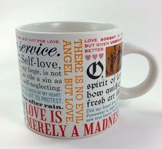 Shakespearean Love Coffee Mug Unemployed Philosophers Guild 2013 Oversize NEW #UnemployedPhilosophersGuild #Shakespeare #coffeemug