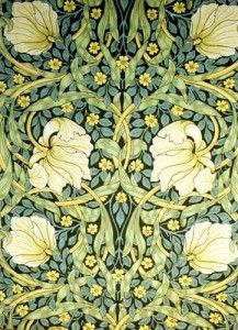William Morris wallpaper flowers