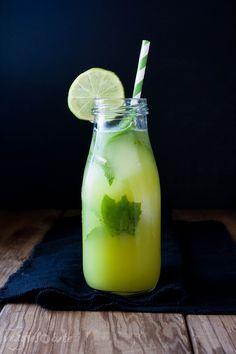 Fresh Anti-Inflammatory Juice, cucumber, pineapple, lime, jalipino, mint
