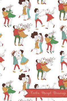 Cecilia Murgel Drawings  Serimbó - surface pattern design #pattern