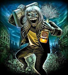 Woodstock, Hard Rock, Rock Bands, Iron Maiden Mascot, Iron Maiden Powerslave, Evil Pictures, Iron Maiden Posters, Eddie The Head, Iron Maiden Band