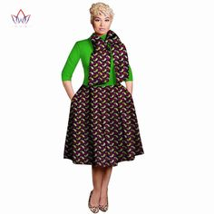 New Vintage African Women Patchwork Bow knot A line Dresses Ankara Clothes Bazin Rihce African Print Dresses for Women 2 - AliExpress African Attire, African Wear, African Women, African Beauty, African Print Dresses, African Print Fashion, African Fashion Dresses, African Traditional Wear, Short Gowns
