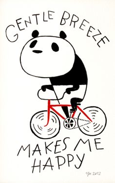 bicycle panda - yu nagada - Life in art via spoon & tamago