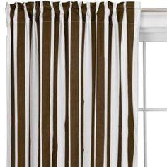 Bacati Stripes Cotton Rod Pocket Curtain Single Panel | AllModern